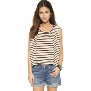 Free People Boho Hi-Lo Striped Top